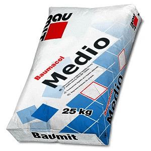 Товстошарова клейова суміш  для підлоги Бауміт Medio, Бауміт Медіо, 25 кг