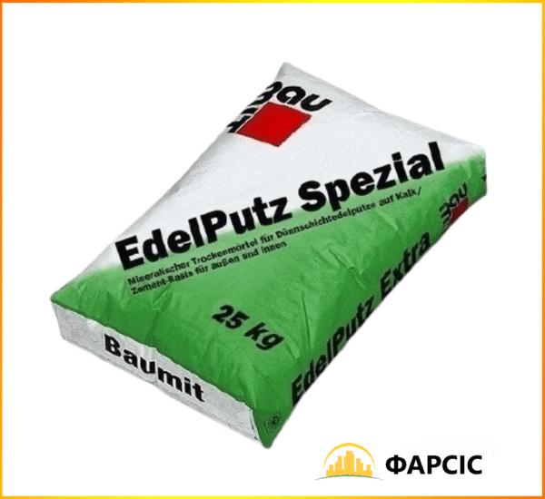 """Мінеральна штукатурка 1,5К Edelputz Spezial  """"барашек"""" (зерно 1,5 мм), 25кг"""