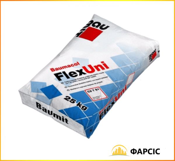 Універсальна еластична клейова суміш Бауміт FlexUni, 25 кг