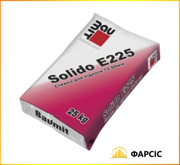 Цементна суміш Baumit Solido E225 для стяжки, 25 кг