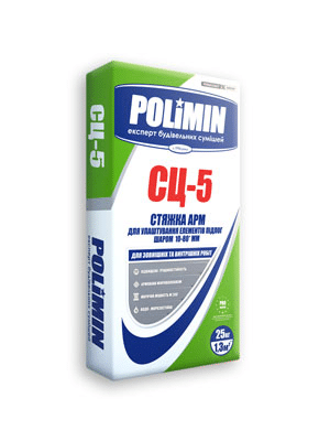 Стяжка цементна СЦ-5 Полімін (25кг)