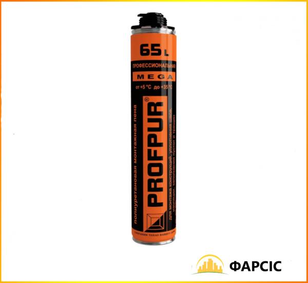 Піна монтажна PROFPUR Mega 870 ml професійна (65л)